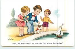 JIM PATT  - Papa, Les P'tits Bateaux Qui Vont Sur L'eau Ont-ils Des Jambes? - Cartes Humoristiques