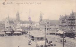 Ostende Panorama De La Ville A La Sortie De La Gare Feldpost Fernsprechzug 1916 - Oostende