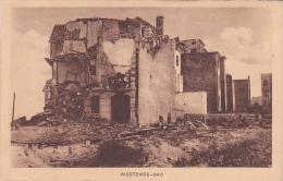 Westende Bad Zerschossenes Haus Feldpost Kaiserliche Marine 1916 - Westende