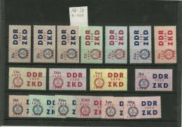 ZKD  MiNr 16-30, Postfrisch, MM 400 - DDR