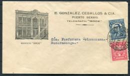 1929 Colombia SCADTA Cover Illustrated Gonzalez Caballos PUERTO BERRIO - Bucaramanga - Colombia