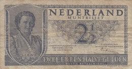 2 1/2 GULDEN 8-08-1949  4EL071126 - [2] 1815-… : Royaume Des Pays-Bas