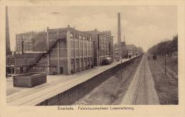 801/ Oude Kaart Enschede, Fabriekscomplexen Losserscheweg, 1928 - Enschede