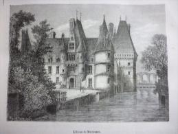 Chateau De Maintenon , Gravure Stankowski Dessin De Thorigny De Circa 1887 - Documents Historiques