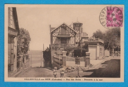 VILLERVILLE SUR MER 14 ( RUE DES BAINS - DESCENTE A LA MER ) - Villerville