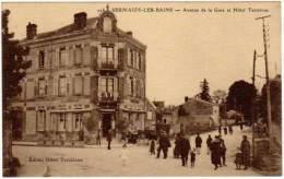 Sermaize Les Bains - Avenue De La Gare Et Hôtel Terminus - Sermaize-les-Bains