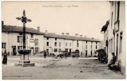 Neaux - La Place (animée, Attelage) - France
