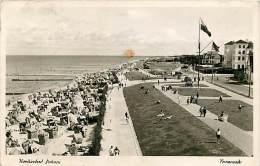 NORDSEEBAD DUHNEN - LA PROMENADE NEGLI ANNI '50. CARTOLINA DEL 1957 - Cuxhaven