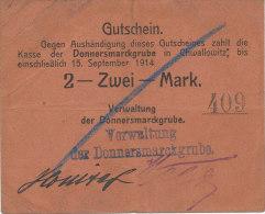 DEUTSCHLAND, Chwallowitz, 2 Mark 1914 - [11] Local Banknote Issues