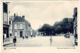 Suippe - Place Du Marché Et La Poste - France