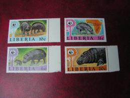 == Liberia  WWF  Satzt  ** MNH   1984 - Liberia