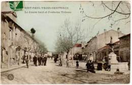 Saint Paul Trois Château - Le Cours Haut Et Fontaine Tritons - France