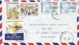 Madagascar 1995 Amparafaravola Dove Pigeon Shark FAO Cathedral Kremlin Moscow Russia Cover - Madagaskar (1960-...)