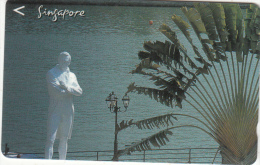 SINGAPORE(GPT) - Statue & Palm, CN : 197SIGC99, Used - Singapore