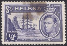 St. Helena, 1/2 P. 1938, Scott # 118, MH. - Saint Helena Island