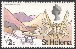 St. Helena, 1/2 P. 1968, Scott # 209, MH - Saint Helena Island