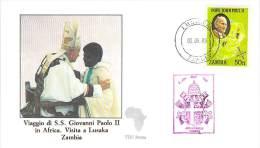 ZAMBIE CATHOLIQUE VOYAGE  PAPE  JEAN PAUL II   Pope John Paul II Papst Johannes Paul II  PAPA Jonas Paulius II - Zambie (1965-...)
