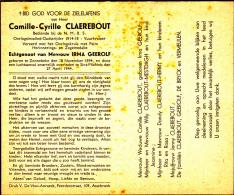 Oorlogsslachtoffer, Gesneuveld, 1940,Camille Claerbout,Geerolf,Zonnebe Ke,1894,Sint-Michiels,194 4 - Religion & Esotérisme