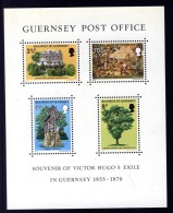 GUERNSEY - 1975 VICTOR HUGO SOUVENIR SHEET FINE MNH ** - Guernsey
