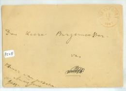 BRIEFSTUKJE * GELOPEN In 1853 VAN DE OFFICIER VAN JUSTITIE AAN DE BURGEMEESTER TE ?  (8248) - Period 1852-1890 (Willem III)