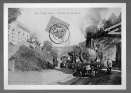 PHOTO TIRAGE ARGENTIQUE DE CARTE POSTALE LA CROIX TRAIN 61 EN GARE( LOT LILOU 13 ) - Photos