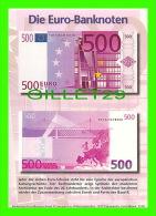 MONNAIES REPRÉSENTATION - 500 EURO - DIE EURO-BANKNOTEN - ALLEMAGNE, 1997 - - Monnaies (représentations)