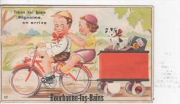BOURBONNE-les-BAINS : (52) Fantaisie Avec 10 Miniatures De CPA Dépliantes En Noir Cachées Dans Le Motif - Bourbonne Les Bains