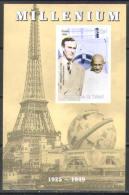 M0286 ✅ Mahatma Gandhi Millenium 1999 Chad S/s Luxe MNH ** Imperf Imp - Mahatma Gandhi
