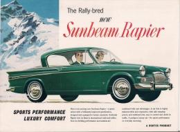 New SUNBEAM RAPIER - A ROOTES PRODUCT. - Publicités