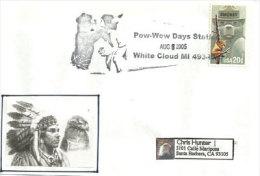 USA.Pow-Wow (Fête Indienne) A White Cloud . Michigan.  Enveloppe Souvenir - American Indians