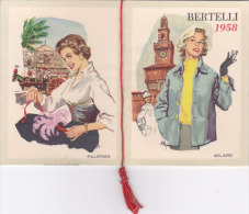 """CALENDARIETTO BERTELLI MILANO """"BELLEZZE D'ITALIA"""" 1958--2-0882-19350-351 - Kalender"""