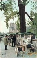 Cpsm PARIS, Les Bouquinistes En Automne Sur Les Quais De Seine   (25.06) - La Seine Et Ses Bords