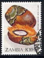 ZAMBIA 1989  Edible Fruits 10 K. Used.  SG 599 - Zambia (1965-...)