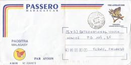 Madagascar 1998 Antananarivo A98 RI PAP Bird Stationary Cover. Possibly Earliest Known Date Of Use - Madagaskar (1960-...)