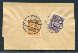 1928 Latvia 1s And 2s Arms And Stars 1928 Liepaja, Latvija Wrapper - Germany - Latvia
