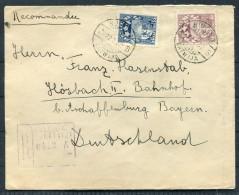 1932 Latvia Registered Cover Kuldiga - Hosbach, Germany - Latvia