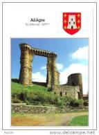 43.- ALLEGRE La Potence. Ruine Féodale, Ancien Château Du XIVème S. Qui Reçut Charles VII Et François Ier (blason)l - France