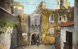 [DC6615] SAN REMO (IMPERIA) - PORTA S. GIUSEPPE - Viaggiata 1909 - Old Postcard - Imperia