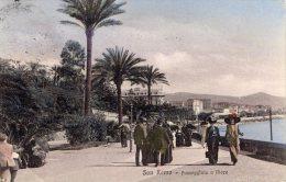 [DC6616] SAN REMO (IMPERIA) - PASSEGGIATA A MARE - Viaggiata 1918 - Old Postcard - Imperia