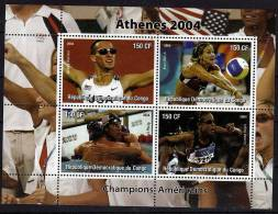 CONGO  BF ( 2004 )  **    Jo 2004   Course-natation-volley - Volley-Ball