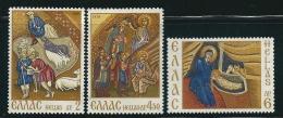 Greece 1970 Christmas Set Mint No Gum T0547 - Usati