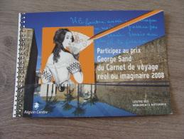 4 Cartes Publicitaires - CENTRE DES MONUMENTS NATIONAUX - Participez Au Prix George Sand Du Carnet De Voyage - Pubblicitari