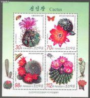 RT)2011 KOREA ,FLOWERS CACTUS SHEET OF 4 MNH. - Korea (...-1945)