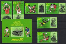 1986 Bulgarien Mi# 3473-78 Bl 166A ** MNH Fußball Football Soccer Sport WM FIFA - Fußball-Weltmeisterschaft