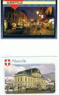 CPM 73 *ALBERVILLE *  1 Lot 2 Cpm  L'hotel De Ville  Rue  Animee - Albertville
