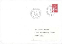 Enveloppe , 21/1/98, Bureau Postal 29240 Brest-laninon-marine - Poste Maritime