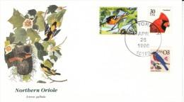 Northern Oriole Bird Cover National Audubon Society $2 Stamp, #2478 & #2480 Blue Bird & Cardinal US Postage Stam - Songbirds & Tree Dwellers