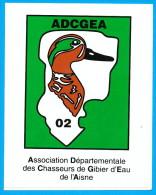 AUTOCOLLANT ADCGEA 02 ASSOCIATION DEPARTEMENTALE DES CHASSEURS DE GIBIER D'EAU DE L'AISNE - Stickers