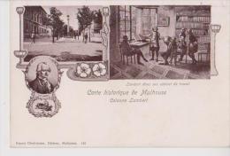 MULHOUSE 68 CARTE HISTORIQUE COLONNE LAMBERT MULTIVUES BELLE CARTE ANIMEE RARE !!! - Mulhouse