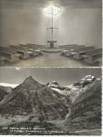 FAFLERALP Kapelle Petersgrat Tschingelhorn Breithorn Lötschental Goppenstein 1963 2 Karten - VS Valais
